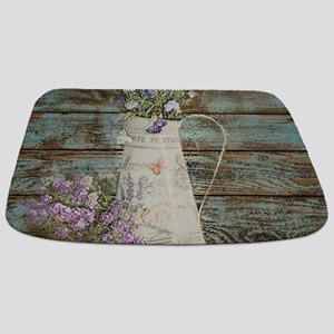 rustic lavender western country Bathmat