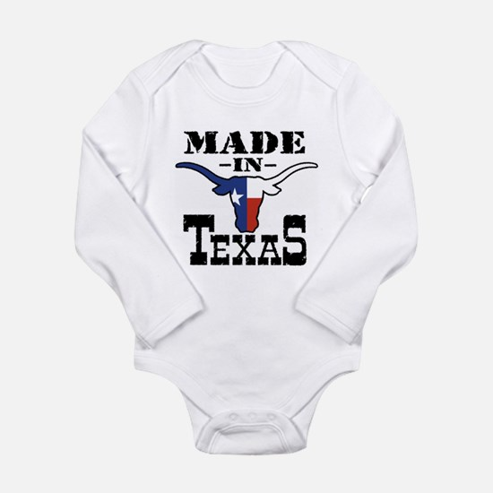 Cute Texas retro state flag Long Sleeve Infant Bodysuit