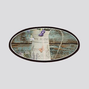 rustic lavender western country Patch
