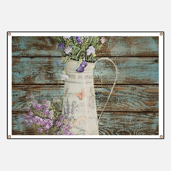 rustic lavender western country Banner