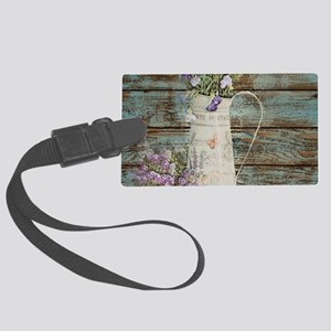 rustic lavender western country Large Luggage Tag