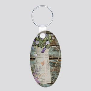 rustic lavender western country Keychains