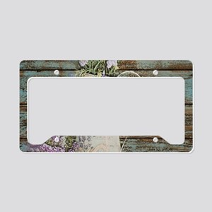 rustic lavender western count License Plate Holder