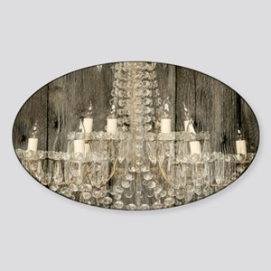 shabby chic rustic chandeli Sticker