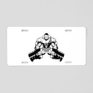 Hercules Gym 3 Aluminum License Plate