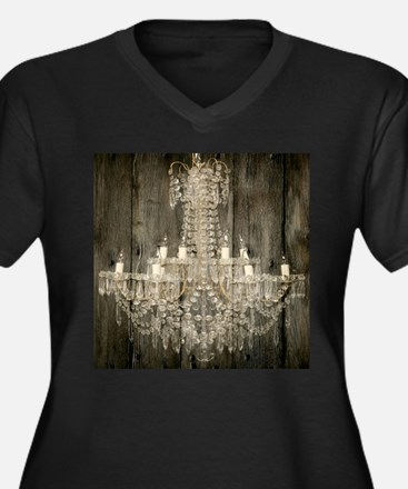 shabby chic rustic chandelier Plus Size T-Shirt