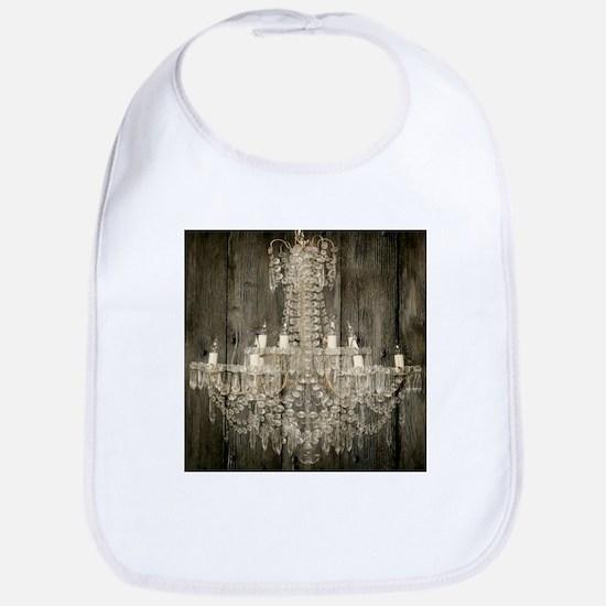 shabby chic rustic chandelier Bib