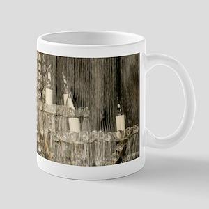 shabby chic rustic chandelier Mugs
