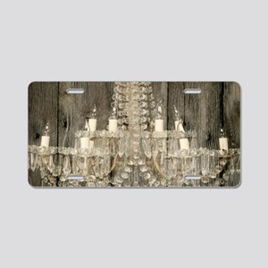 shabby chic rustic chandeli Aluminum License Plate