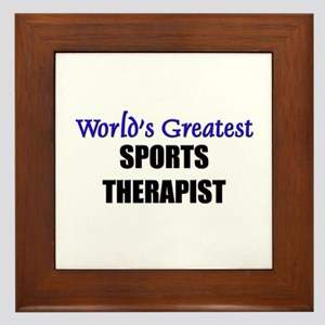 Worlds Greatest SPORTS THERAPIST Framed Tile