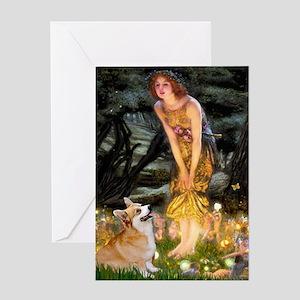 Fairies & Corgi Greeting Card