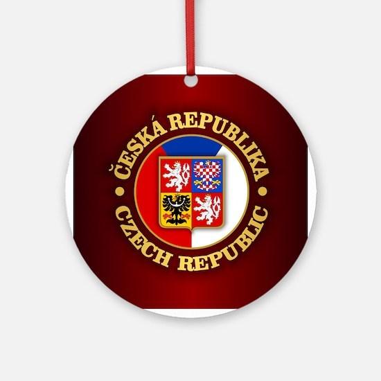 Czech Republic Round Ornament