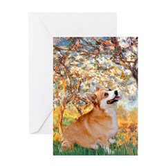 Spring / Corgi Greeting Card