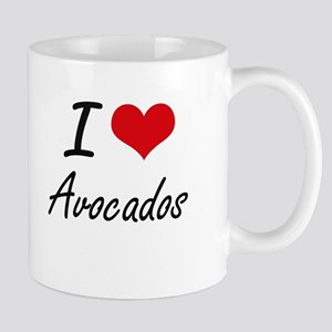 I Love Avocados artistic design Mugs