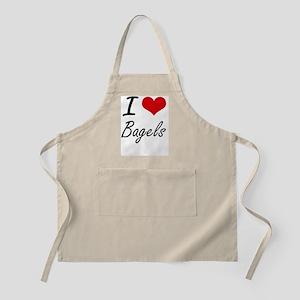 I Love Bagels artistic design Apron