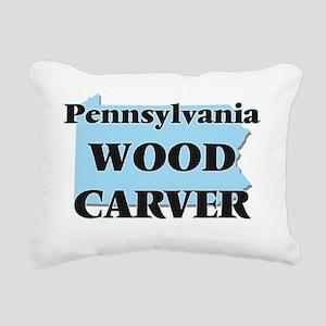 Pennsylvania Wood Carver Rectangular Canvas Pillow