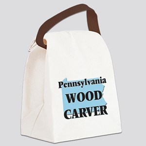 Pennsylvania Wood Carver Canvas Lunch Bag