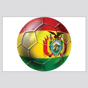 Bolivia Soccer Ball Posters