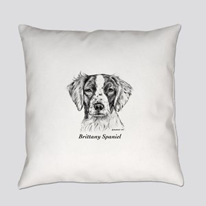 Brittany Spaniel Everyday Pillow
