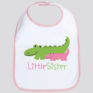 Alligator Little Sister Bib