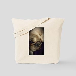 Pugsley the Pug sleepy time Tote Bag