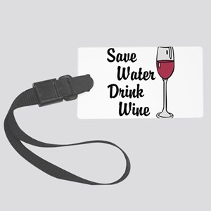 Drink Wine Luggage Tag