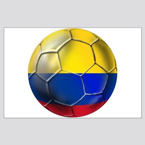 Colombia Soccer Ball Posters