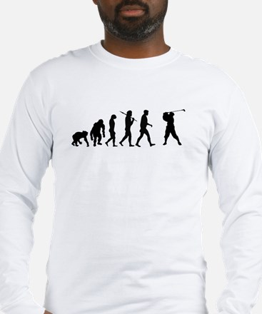 Evolution of Golf Long Sleeve T-Shirt