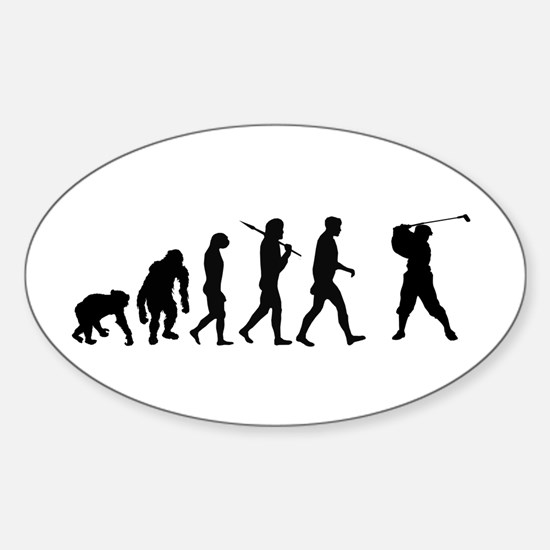 Evolution of Golf Oval Decal