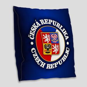 Czech Republic Burlap Throw Pillow