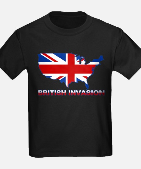 Cute Usa and uk flag T