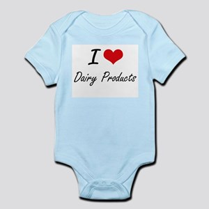 I Love Dairy Products artistic design Body Suit