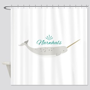 Narwhals Shower Curtain