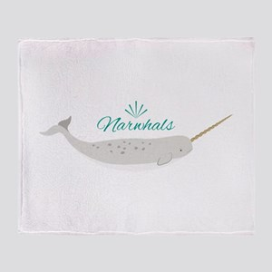 Narwhals Throw Blanket