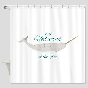 Unicorn Of Sea Shower Curtain