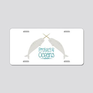 Protect Our Oceans Aluminum License Plate