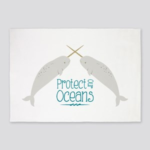 Protect Our Oceans 5'x7'Area Rug