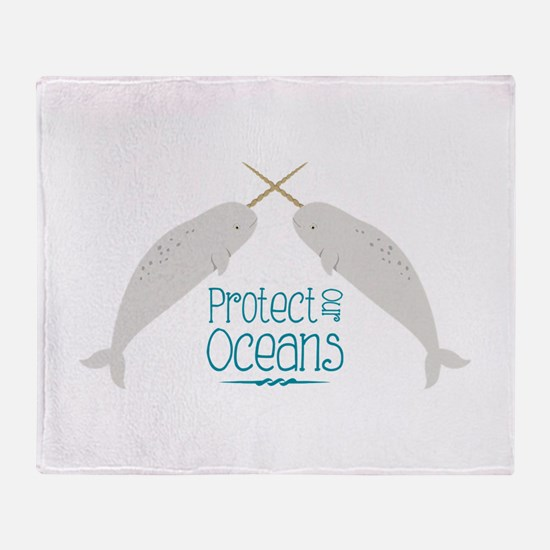 Protect Our Oceans Throw Blanket