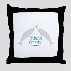 Protect Our Oceans Throw Pillow