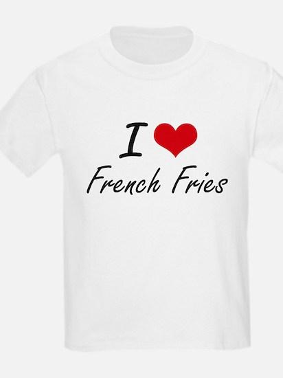 I Love French Fries artistic design T-Shirt