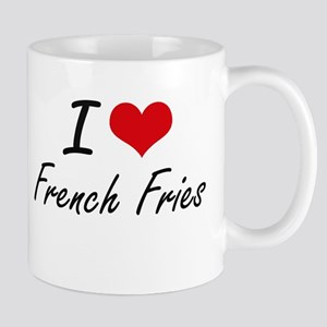 I Love French Fries artistic design Mugs