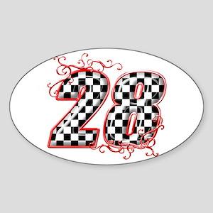 RaceFashion.com 28 Oval Sticker