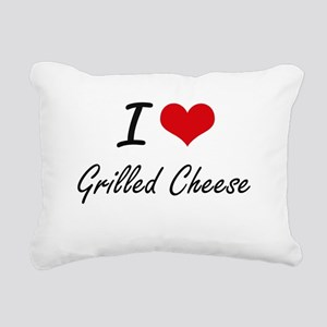I Love Grilled Cheese ar Rectangular Canvas Pillow