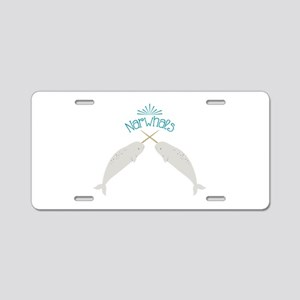 Narwhals Aluminum License Plate