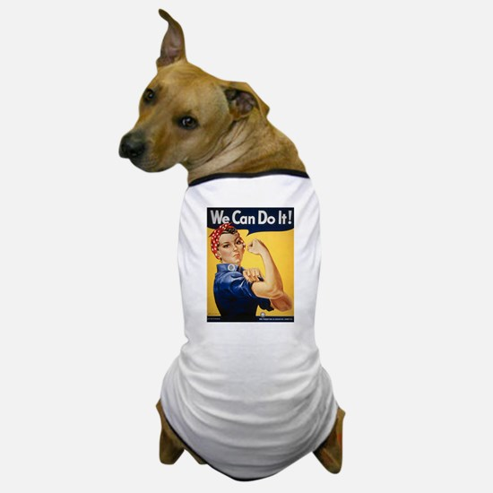 Rosie Riveter We Can Do It Dog T-Shirt