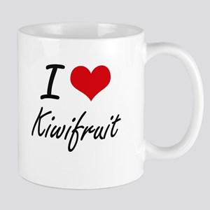 I Love Kiwifruit artistic design Mugs