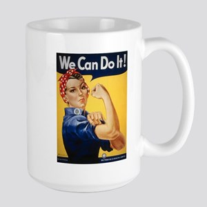 Rosie Riveter We Can Do It Large Mug