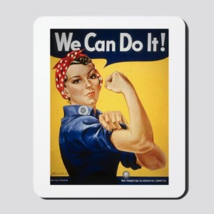 Rosie Riveter We Can Do It Mousepad