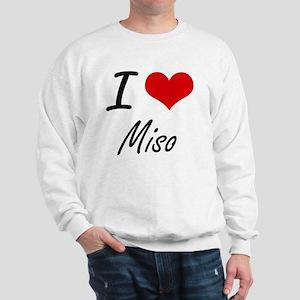 I Love Miso artistic design Sweatshirt