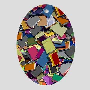 InformationKnowledgeWisdom Oval Ornament